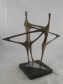 Paul Mount (1922- 2009). An abstract bronze Ballet