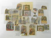 A group of 26 lithographic cut-outs of Jewish religious customs and practices and Biblical interest, (some duplicated), late 19th/early 20th century