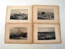 Approximately 14 prints of scenes from the Holy Land, each 21x13cm. image on 22x32cm. backing.