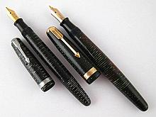 A Parker vacumatic fountain pen in semi
