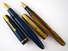 A Parker Duofold fountain pen in navy blue, Parker