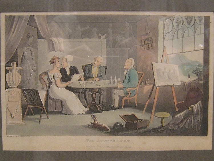 Two prints by Thomas Rowlandson. 1. 'The Artist's