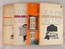 Four Penguin edition Graham Greene novels, ''Our