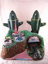 A collection of Thunderbirds memorabilia including