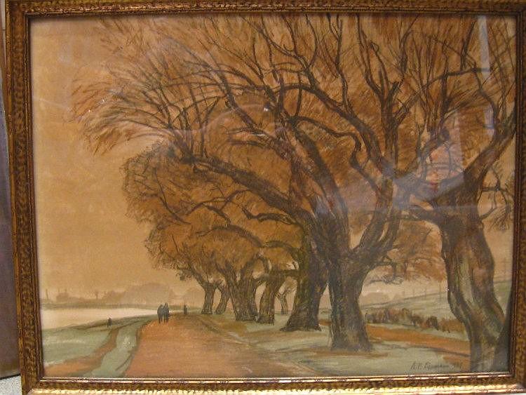Karl Fredrich Lippmann, 1883-1957. German painter