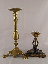 A Victorian ormolu centrepiece base with three