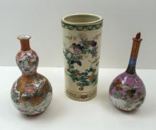 3 PCS OF HAND PAINTED CHINESE DECORATIVES