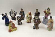 10 HAND PAINTED CHINESE FIGURES