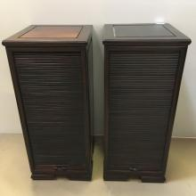 PAIR OF CHINESE ROSEWOOD SIDE CABINETS