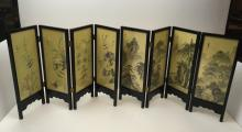 2 CHINESE TABLE TOP HAND PAINTED SCREENS
