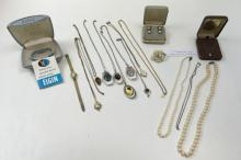 ASSORTED COSTUME, PEARL & STERLING JEWELRY