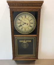 OAK REGULATOR CLOCK BY COLONIAL