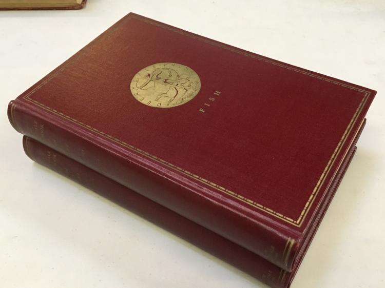 TWO VOLUMES - THE DERRYDALE COOK BOOK OF FISH & GAME by De GOUY - 1st ED NUMBERED