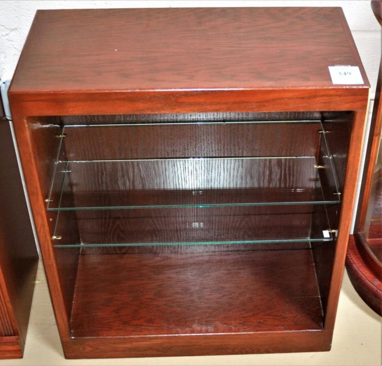 Bookcase Display Cabinet Two Glass Shelves
