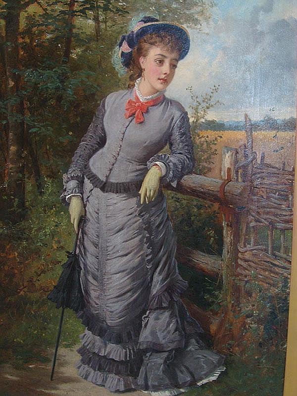 Edward Charles Barnes, 1820-1890, a young lady