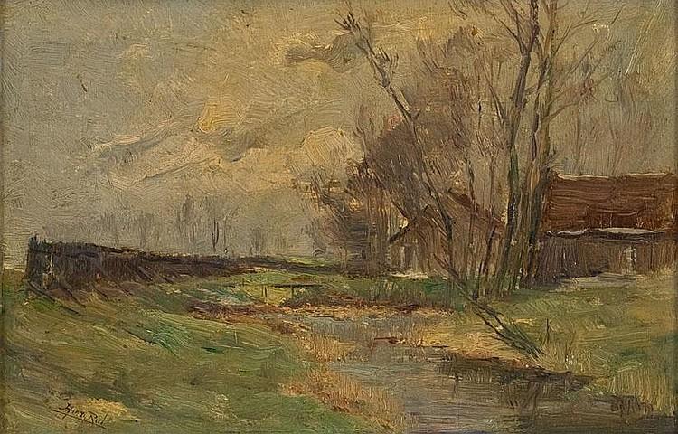 RUL, HENRY 1862 Anvers - Viersel 1942 Gehöft am