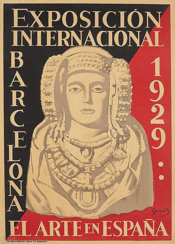Affiche Exposicion Internacional Barcelona 1929