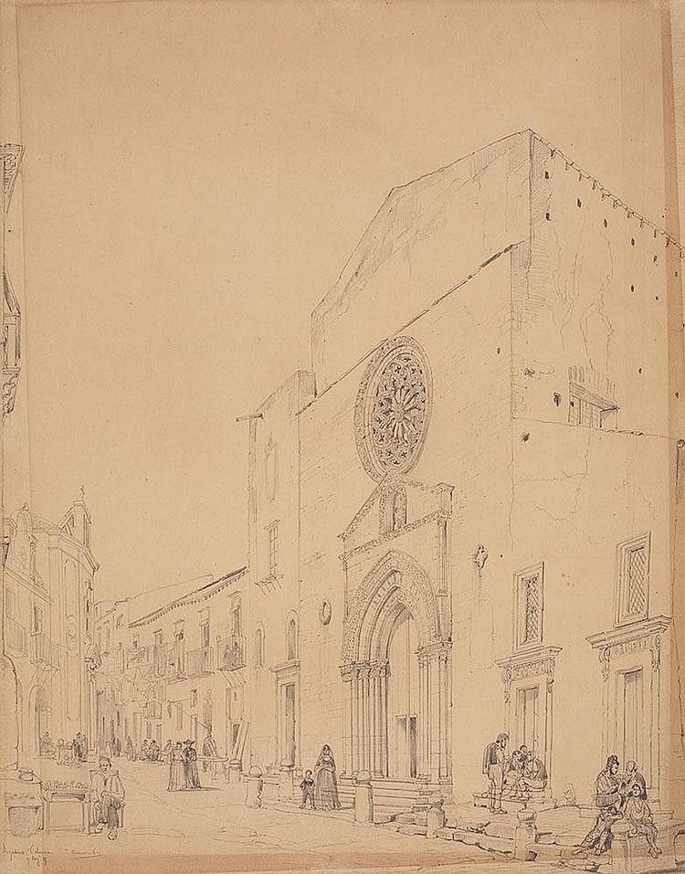 Ansicht von Sant'Agostino in Palermo
