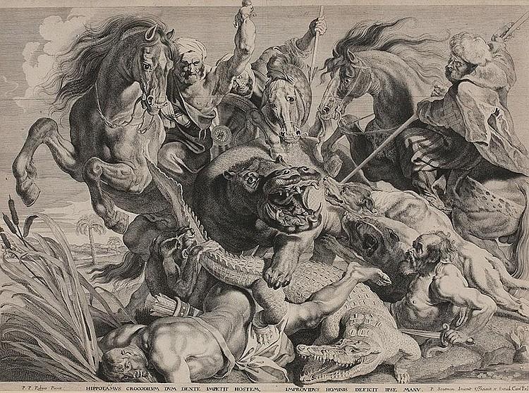 Die Krokodiljagd (nach Rubens)