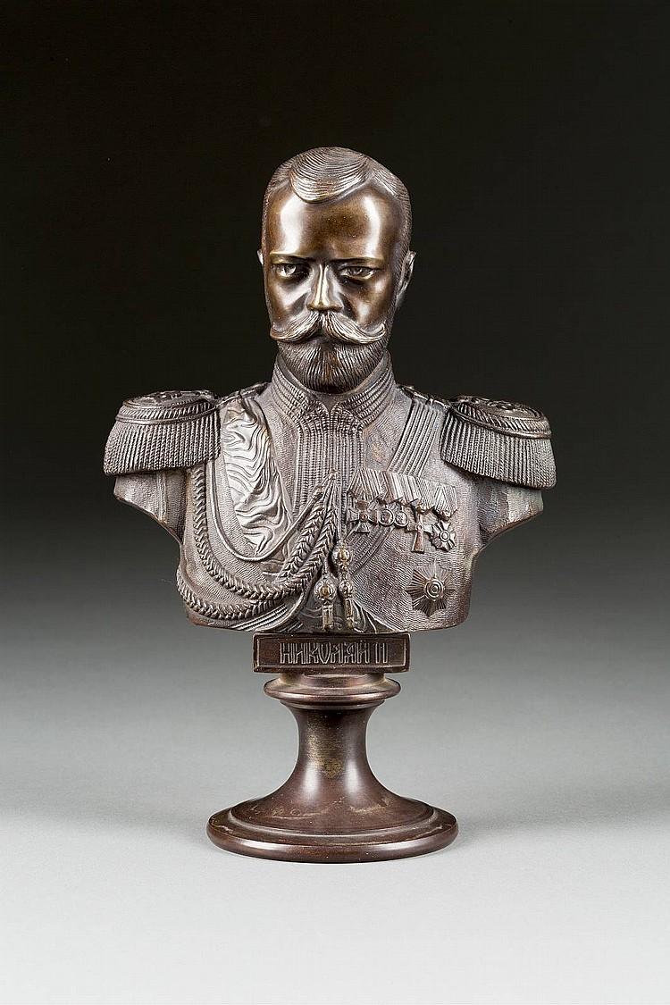 BÜSTE ZAR NIKOLAUS II. VON RUSSLAND