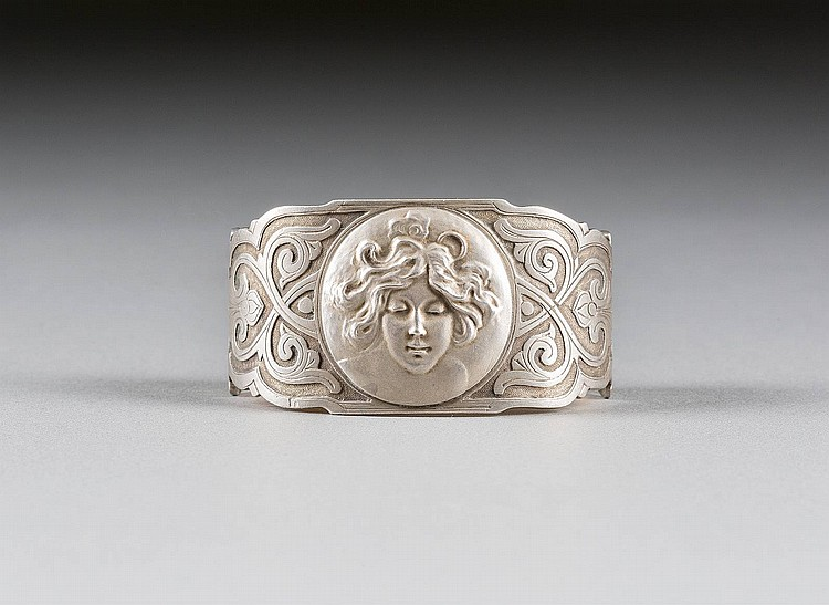 MASSIVER JUGENDSTIL-SERVIETTEN-RING