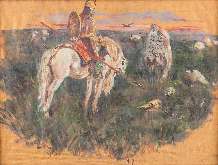 WIKTOR MICHAILOWITSCH WASNEZOW 1848, Kirow - 1926 Moskau (Nachfolge) Der Recke am Scheideweg