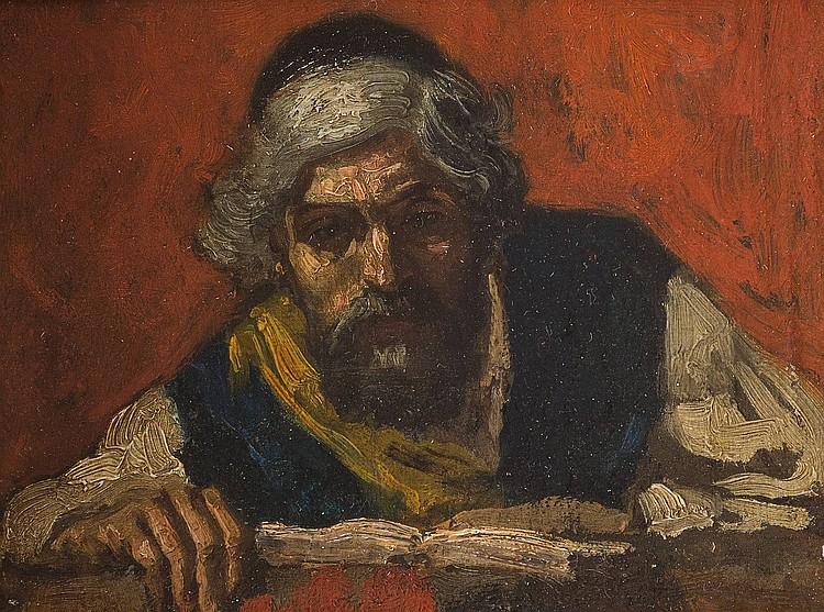 EMMANUEL MANÉ-KATZ 1894 Kremenchuk/ Ukraine - Tel-Aviv 1962 (attr.) Rabbi