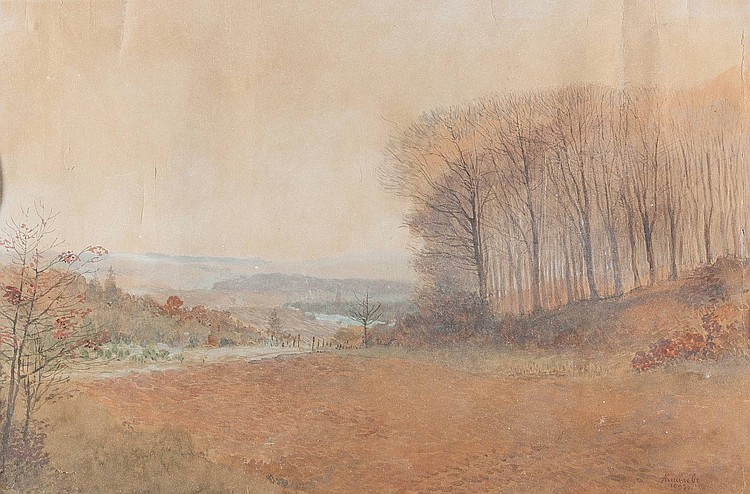 ALEKSANDR ALEKSANDROVICH KISELEV 1838 Suomenlinna - 1911 (?) Herbstlandschaft