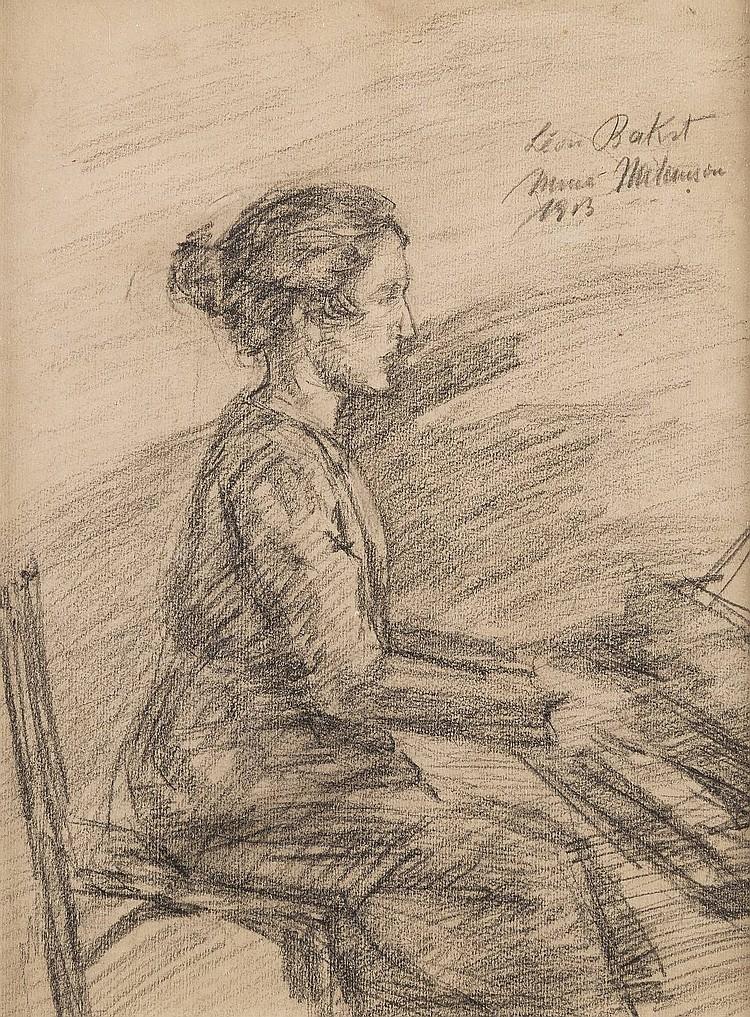 LÉON BAKST 1866 Grodno - 1924 Paris (attr.) Frau am Klavier