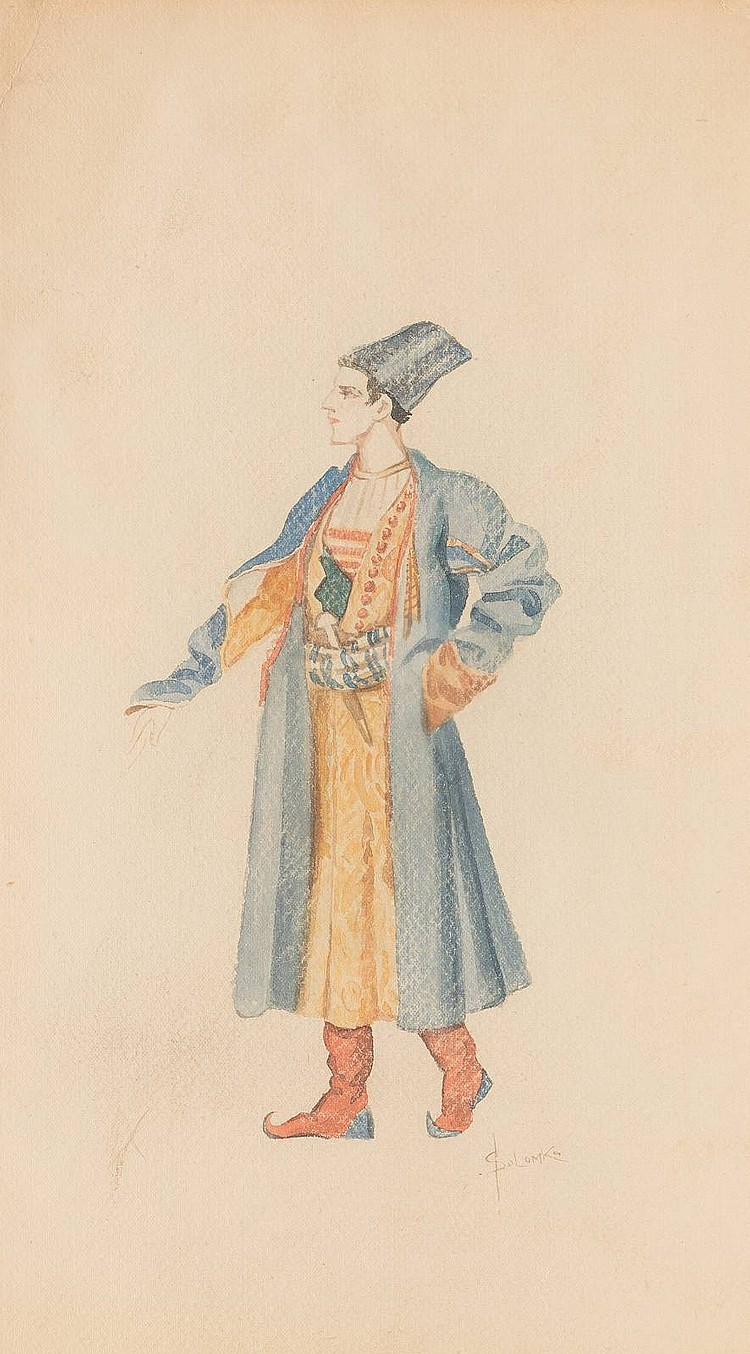 SERGEJ SERGEEVITSCH SOLOMKO 1867 St. Petersburg - 1928 Sainte-Geneviève-des-Bois Kostümstudie