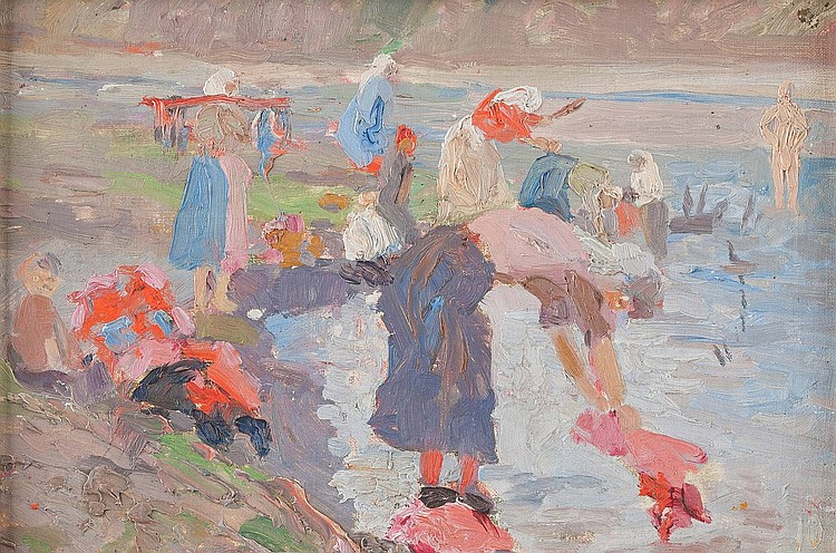 LUDWIG JOHST 1889 Hamburg - Munich 1976 The washerwomen