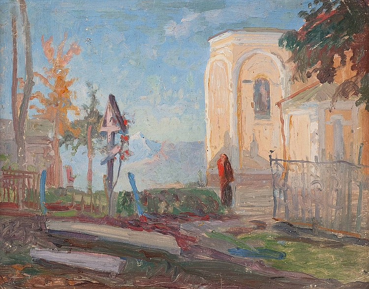 LUDWIG JOHST 1889 Hamburg - Munich 1976 A Church near Pjatigorsk