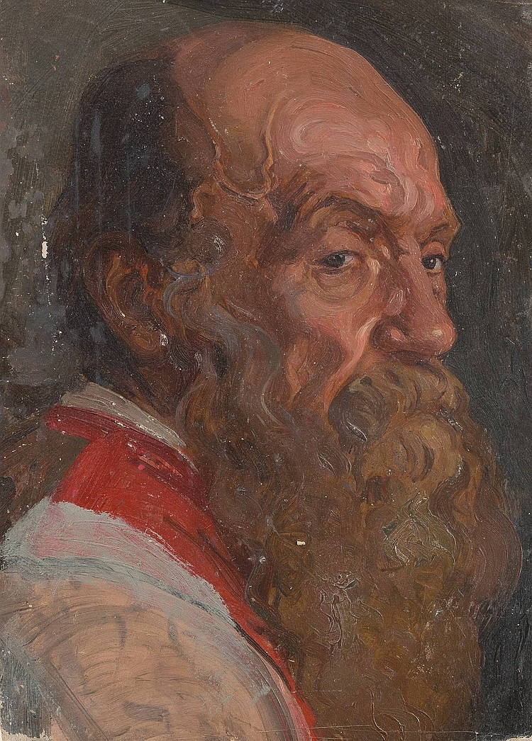 LUDWIG JOHST 1889 Hamburg - Munich 1976 Portrait of a bearded man