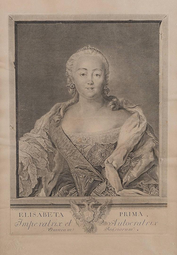 EWGRAF PETROWITSCH TSCHEMESOW 1737 Ozerki, bei Pensa - 1765 St. Petersburg Portrait der russischen Kaiserin Elisabeth I.