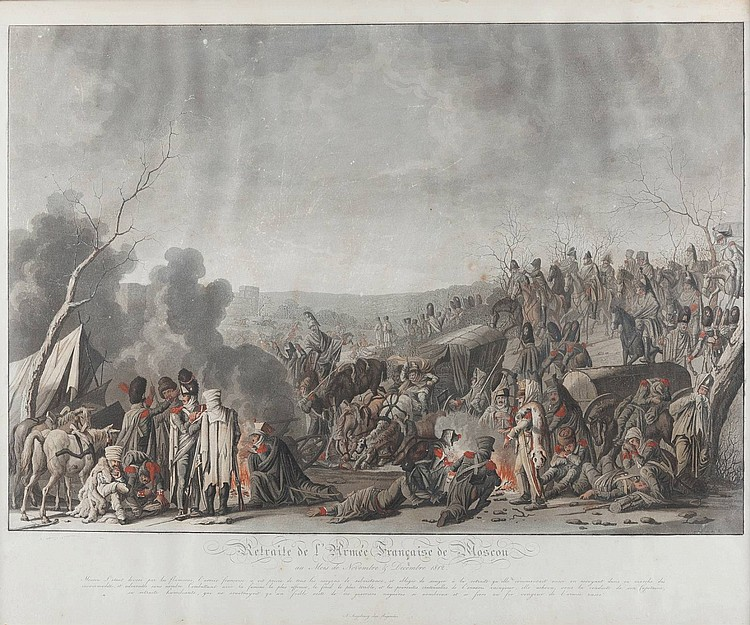 JOHANN LORENZ RUGENDAS 1775 Augsburg - Augsburg 1826 Retreat of the french troops from Moscow