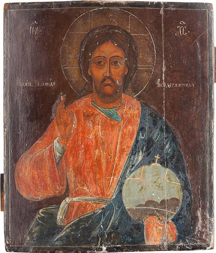 IKONE MIT CHRISTUS PANTOKRATOR