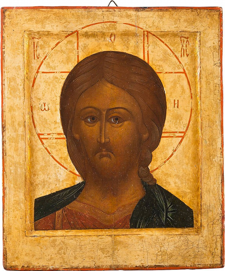 IKONE MIT CHRISTUS 'DAS GRIMME AUGE'