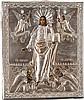 IKONE MIT CHRISTUS VON SMOLENSK MIT SILBER-OKLAD