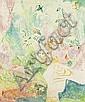 Felslandschaft mit kleinen Akten, Oskar Moll, Click for value