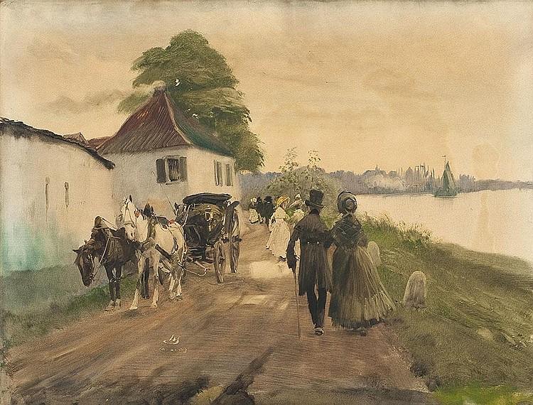 Spaziergang am Rheinufer in Kaiserswerth