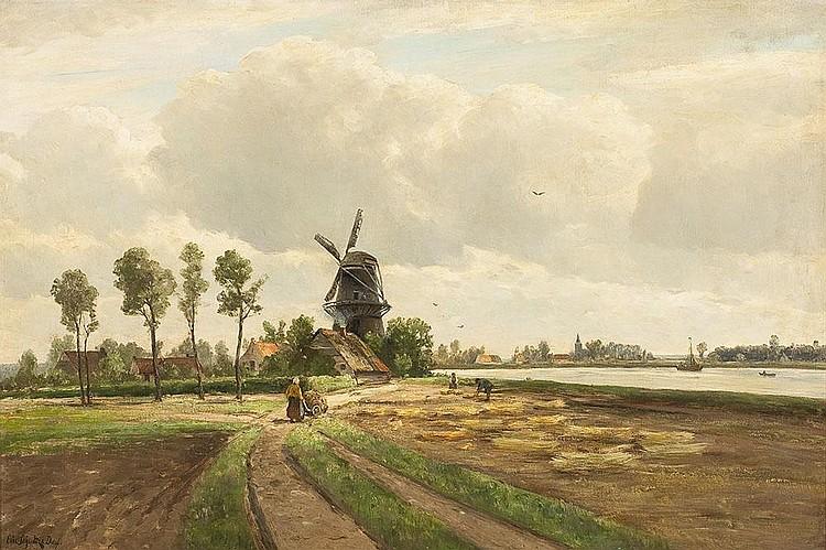 Niederrheinlandschaft zur Erntezeit