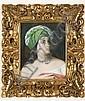 Bildnis einer Dame mit grünem Turban, Francesco Hayez, Click for value