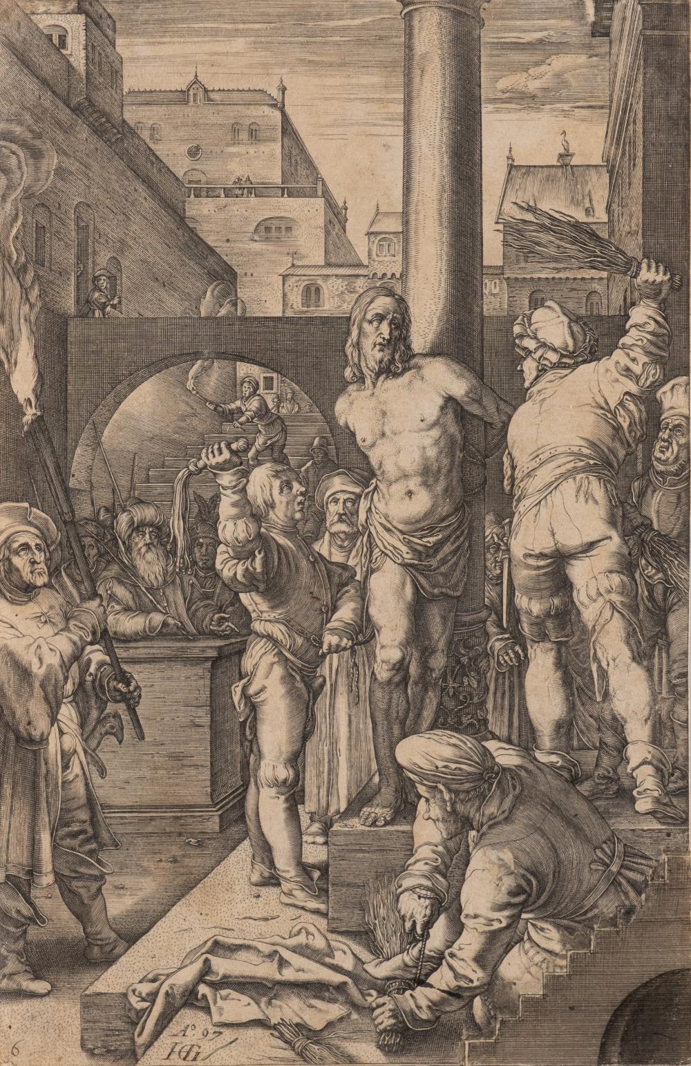 HENDRIK GOLTZIUS DUTCH ANNUNCIATION OLD ART PAINTING POSTER PRINT BB5599A