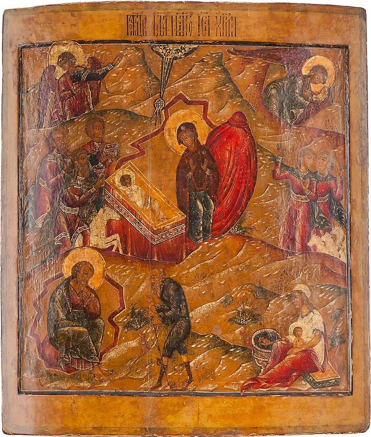 MONUMENTALE IKONE MIT DER GEBURT CHRISTI