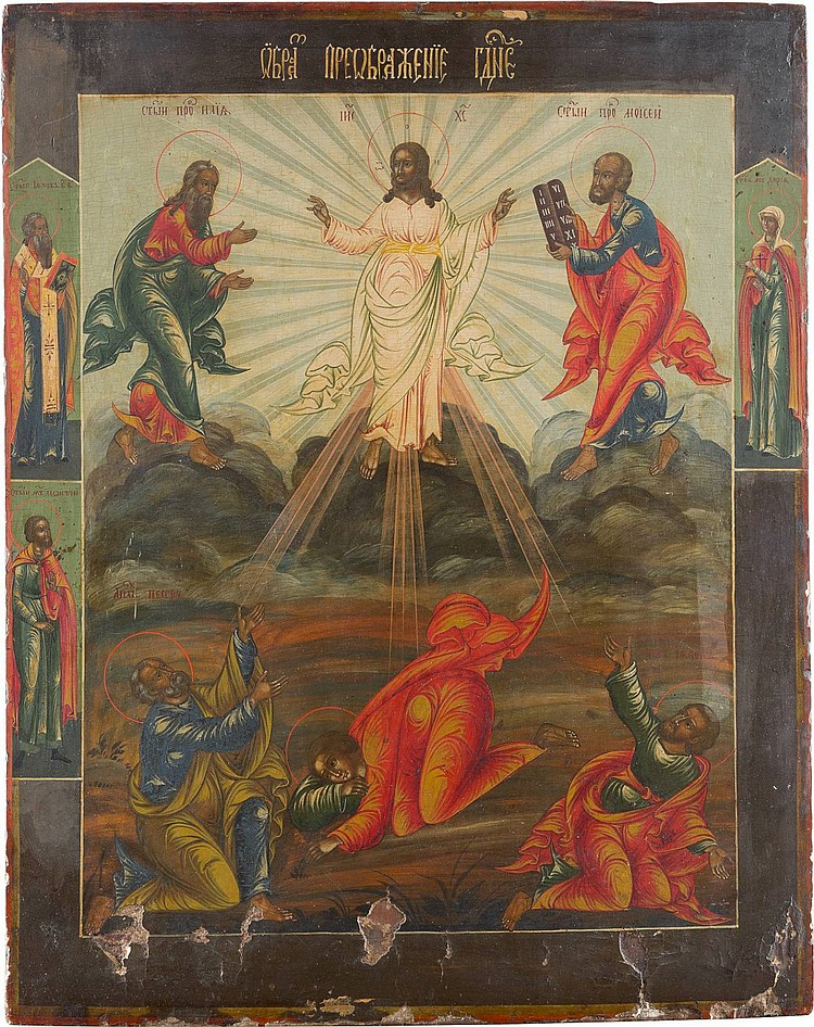 GROSSE IKONE MIT DER VERKLÄRUNG CHRISTI