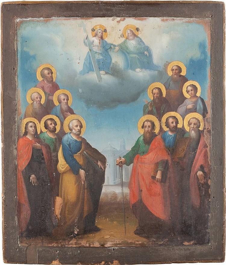 IKONE MIT DEN ZWÖLF APOSTELN