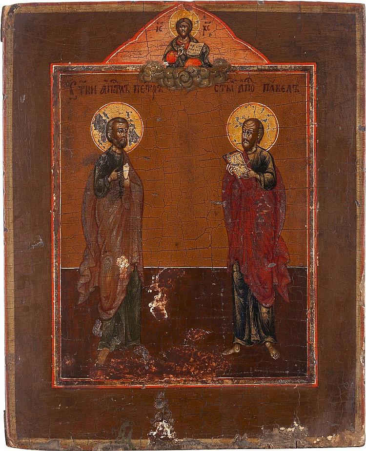 IKONE MIT DEN APOSTELN PETRUS UND PAULUS