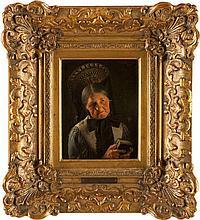 ALBERT WAGNER 1816 Stuttgart - 1867 ebenda Portrait einer Frau in festtägli