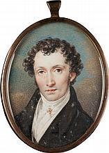 KARL VON SAAR 1797 Wien - 1853 ebenda (Nachfolger) HERREN-PORTRÄT Gouache a