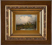 PAUL KÖSTER 1855 Bremen - 1946 Düsseldorf Zwei niederrheinische Landschafte